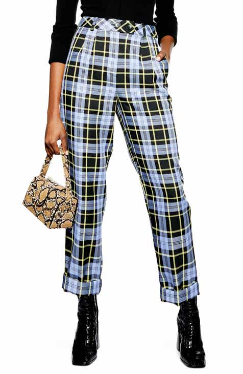 Topshop Punk Check Edie Peg Trousers by TOPSHOP