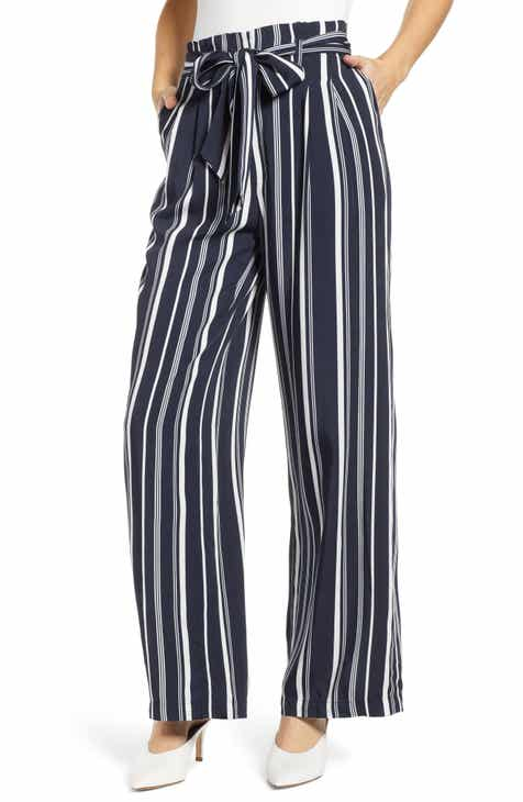 1.STATE Cabana Stripe Straight Leg Pants by 1.STATE