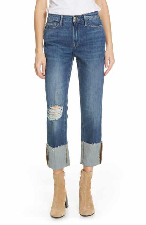 e7465420d3ef7 FRAME Le Nouveau Straight Leg Big Cuff Jeans (Teigan)