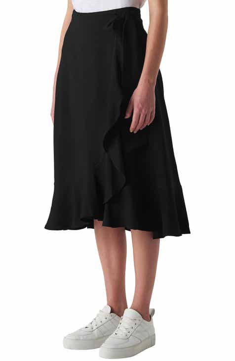 Whistles Mei Ruffle Detail Wrap Skirt by WHISTLES
