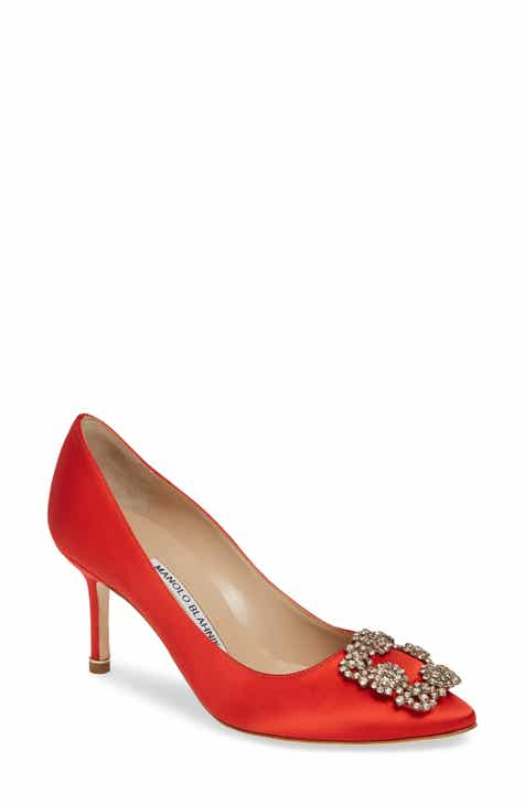 fe90f0eec7 Manolo Blahnik 'Hangisi' Pointy Toe Pump (Women)