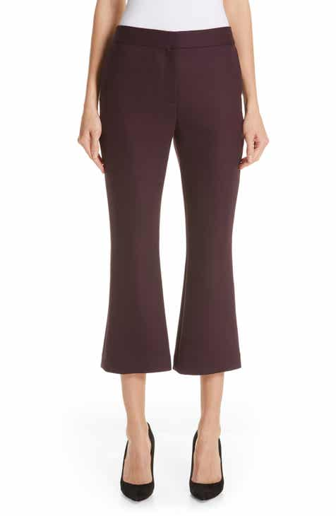 Adam Lippes Double Face Crop Flare Pants by ADAM LIPPES