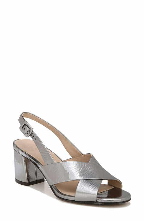 00e855b98ba Metallic Block-Heel Sandals for Women