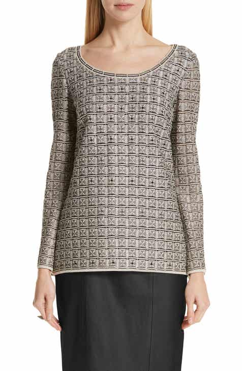 St. John Collection Addison Metallic Knit Top by ST. JOHN COLLECTION