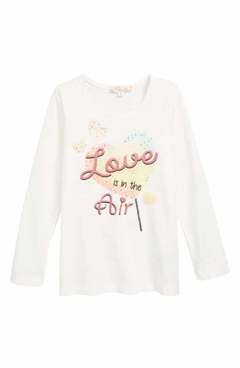 Truly Me Love is in the Air Tee (Toddler Girls & Little Girls)