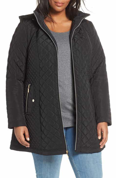 fe93a1e17be Gallery Fitted Quilted Hooded Jacket (Plus Size)