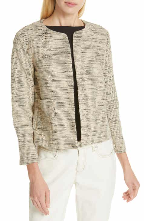 Eileen Fisher Woven Cotton Jacket (Regular & Petite) by EILEEN FISHER