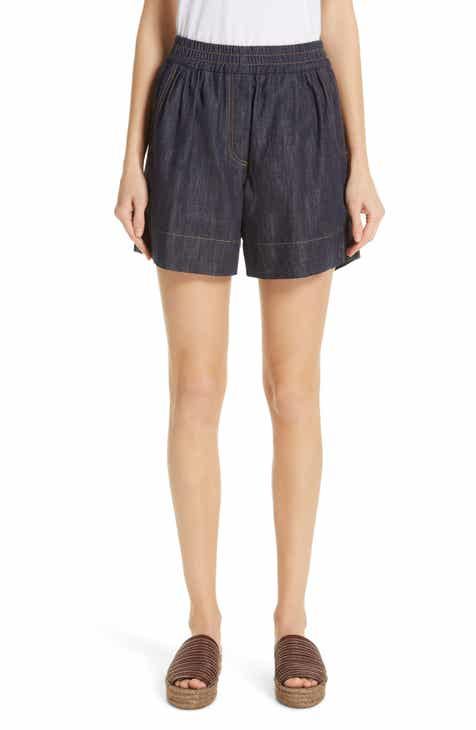 Brunello Cucinelli Monili Trim Denim Shorts by BRUNELLO CUCINELLI