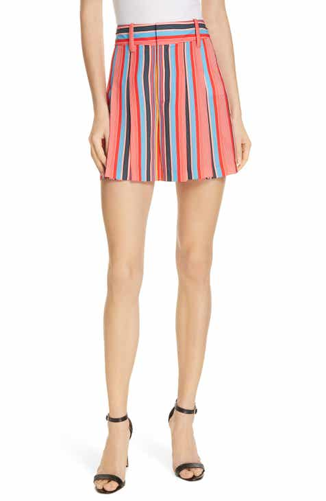 L'AGENCE Alex Stripe Paperbag Shorts by LAGENCE