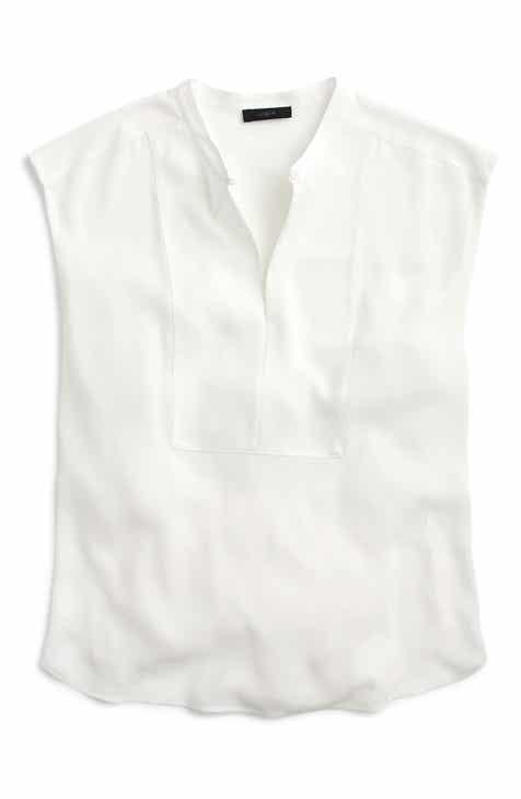 ef0116da71913 J.Crew Drapey Cap Sleeve Top (Regular