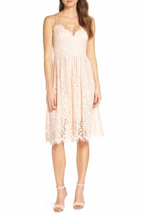 06b277a7100 Eliza J Lace Fit   Flare Dress