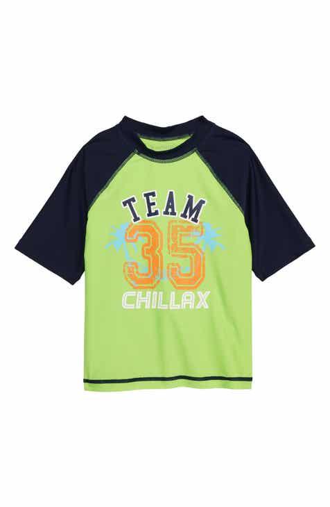 Flapdoodles Team Chillax Rashguard (Toddler Boys & Little Boys)