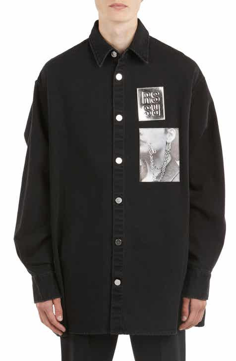 4d1493849f7 Raf Simons Oversize Patch Denim Shirt