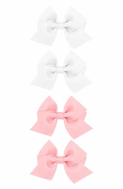 PLH Bows Set of 4 Grosgrain Bow Hair Clips (Baby)