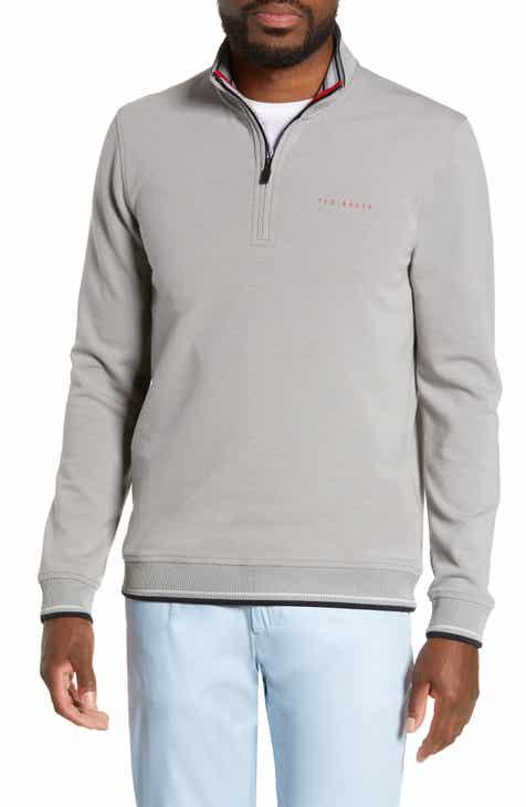 cfc6b1d436a29c Ted Baker London Peanot Slim Fit Zip Golf Sweater