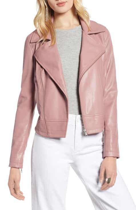 fd7283d833 Halogen® Quilted Faux Leather Moto Jacket