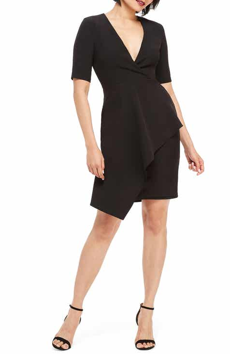 682cde653f4 Maggy London Dream Cascade Crepe Sheath Dress