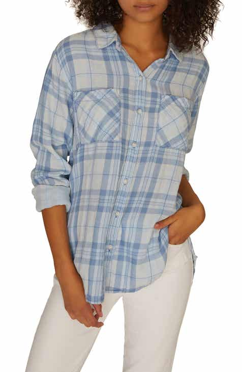e117723f25a56 Sanctuary Plaid Boyfriend Shirt (Regular   Petite)