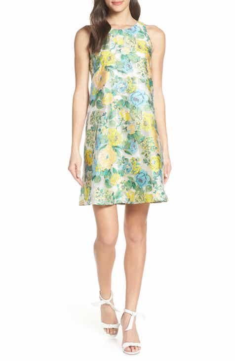 23a34043e41 Mark + James by Badgley Mischka Floral Brocade Trapeze Dress