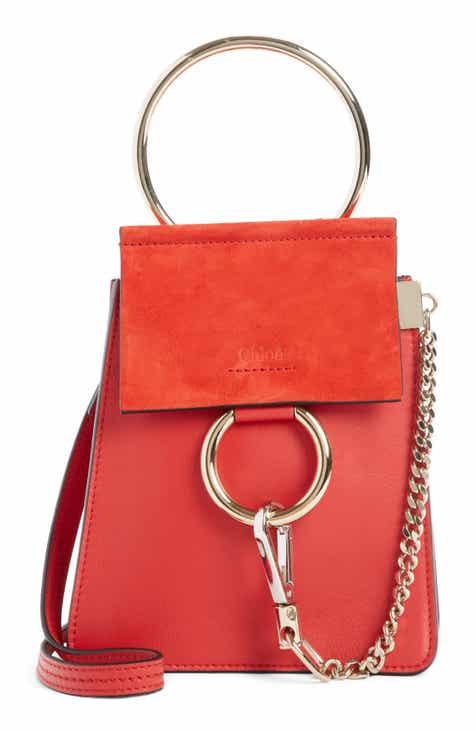 1e4b4f23f392 Chloé Faye Small Suede   Leather Bracelet Bag
