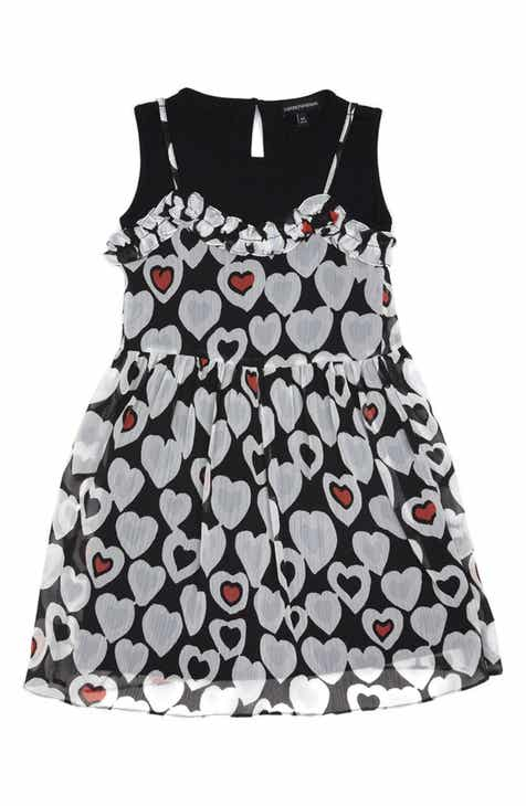 c6ee2e093d3 Armani Junior Heart Print Sleeveless Dress (Little Girls   Big Girls)