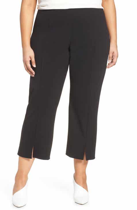 905357921d2 Vince Camuto Ponte Front Slit Ankle Pants (Plus Size)