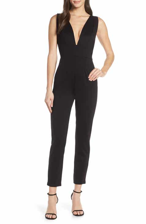 Fraiche by J Plunge Neck Jumpsuit by FRAICHE BY J
