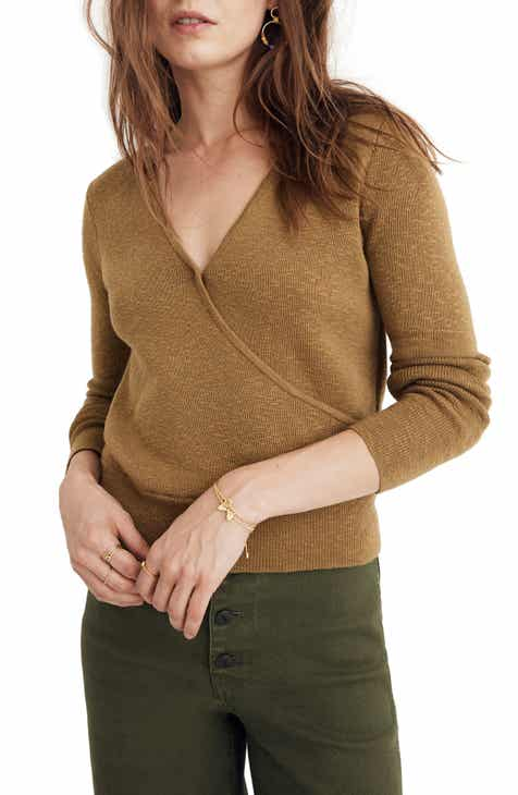 9bd690e2c5938 Madewell Wrap Front Pullover Sweater (Regular   Plus Size)