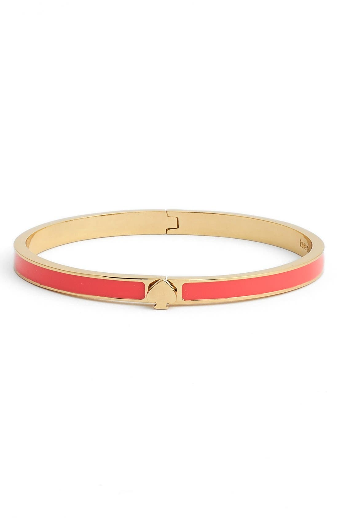 Alternate Image 1 Selected - kate spade new york 'spade' thin hinged bangle