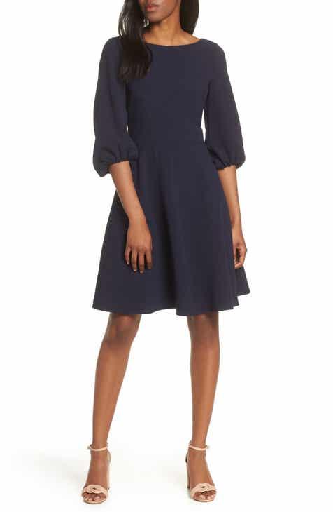 cc0558e6e4f95 Eliza J Balloon Sleeve Fit   Flare Dress