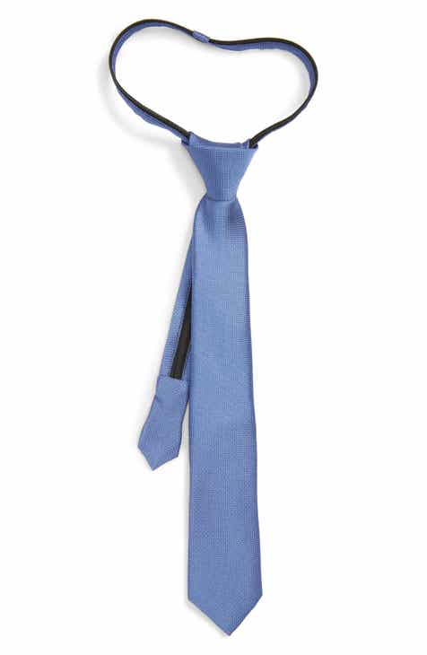Nordstrom Theodore Silk Zip Tie (Big Boys)