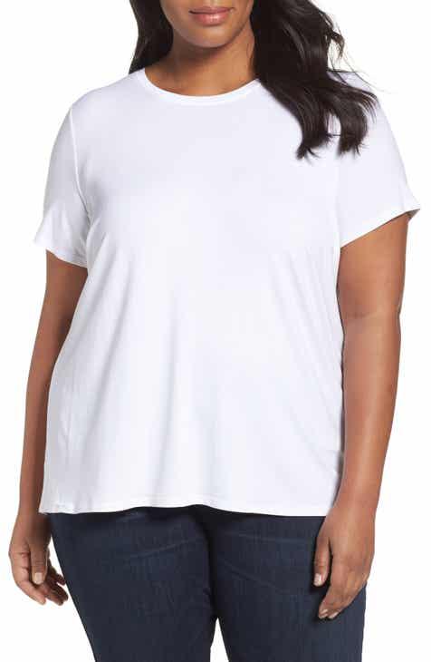 7e8a1bdec9 Eileen Fisher Lightweight Jersey Tee (Plus Size)