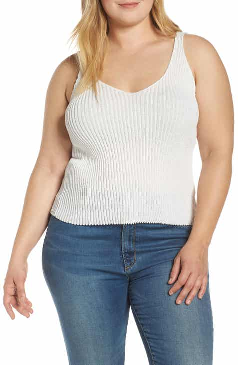 Leith Ribbed Sweater Tank (Plus Size) by LEITH