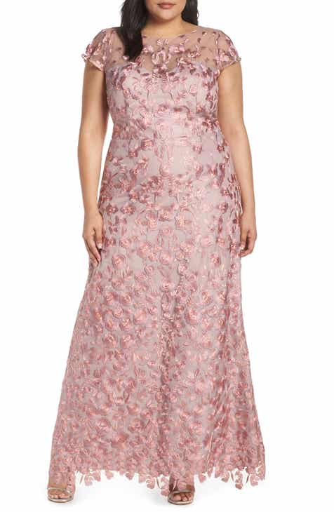 2f1d3ca619 JS Collections Floral Embroidered Evening Dress (Plus Size)