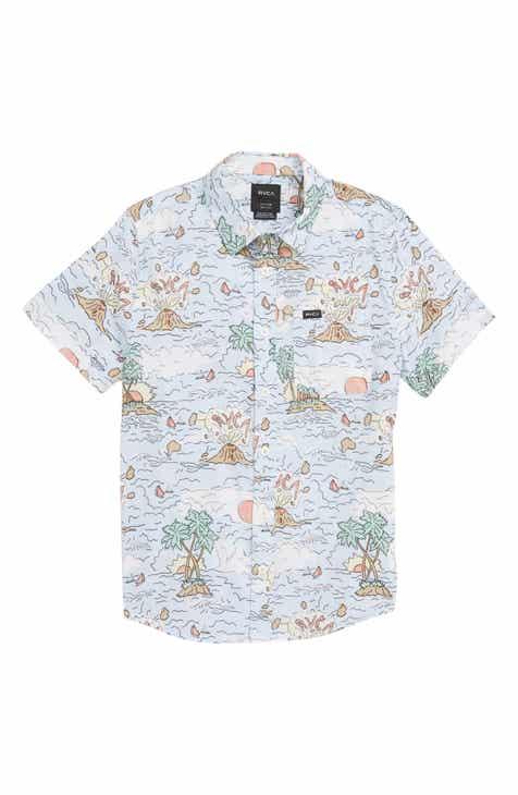 RVCA Ceddia Graphic Woven Shirt (Big Boys)