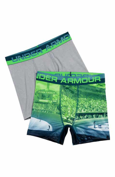 Under Armour Baseball 2-Pack Boxer Briefs (Big Boys)