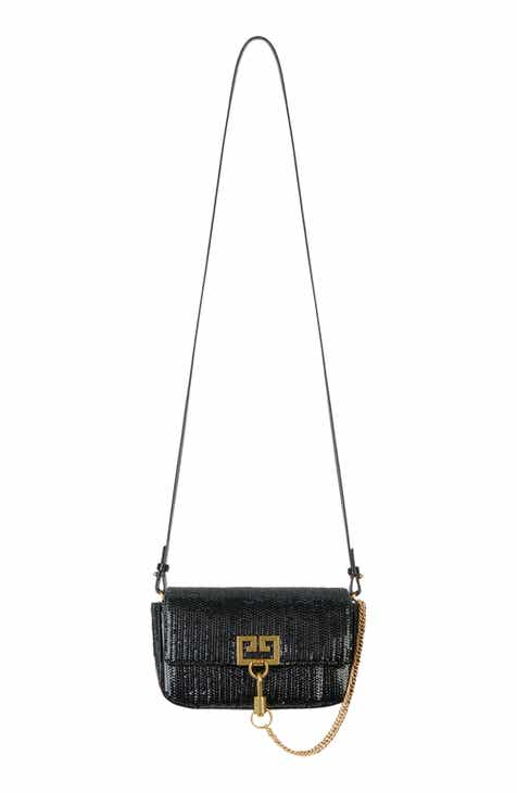 5e1594de8b Givenchy Mini Pocket Woven Leather Crossbody Bag