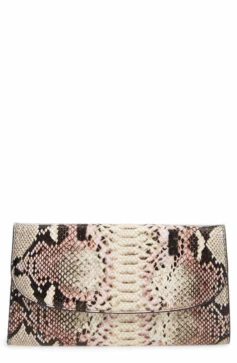 11f2cf21eb2c Nordstrom Snakeskin Embossed Leather Clutch
