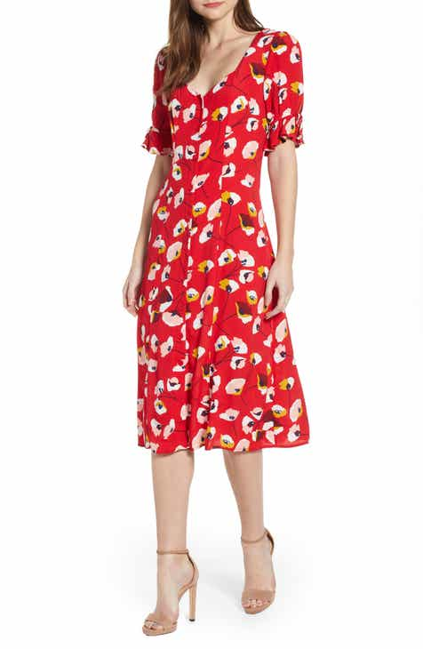 13aae8144d4e Row A Floral Print Midi Dress