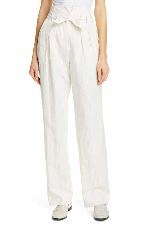 96454970c88 Rebecca Taylor Pinstripe Belted Wide Leg Pants