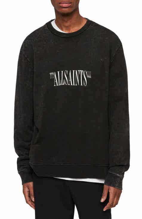 10b569c06047 ALLSAINTS Brackets Logo Graphic Fleece Sweatshirt