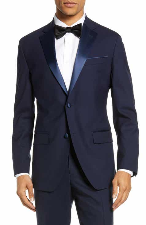 ad956b1b436 Nordstrom Men s Shop Trim Fit Stretch Wool Tuxedo Jacket
