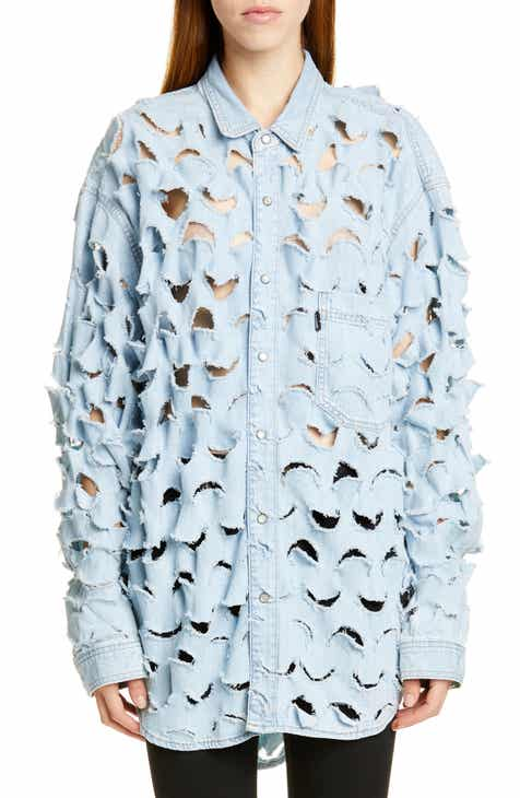 Vetements Cutout Denim Shirt by VETEMENTS