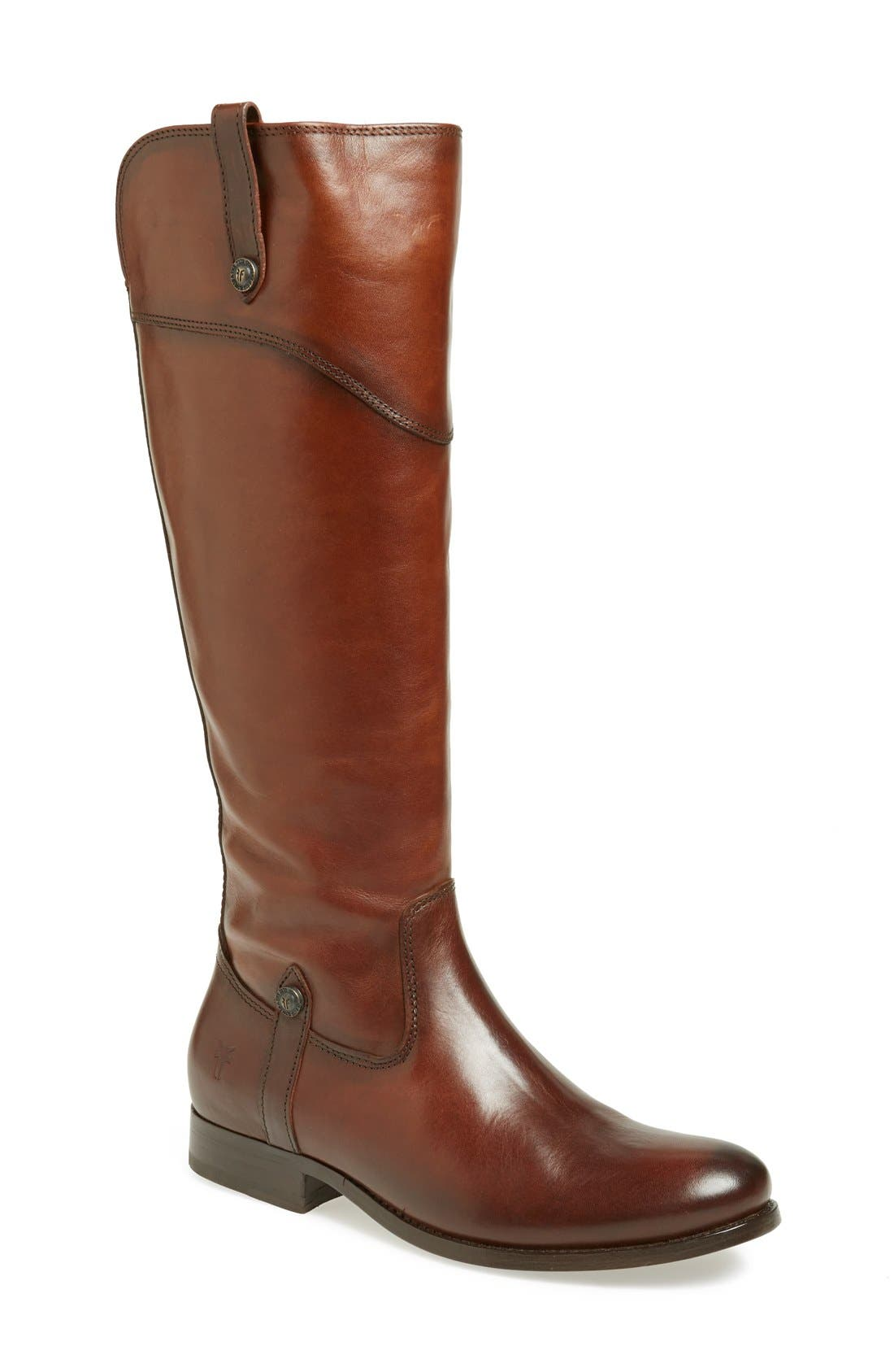 'Melissa Tab' Knee High Boot,                             Main thumbnail 1, color,                             Redwood Vintage Leather