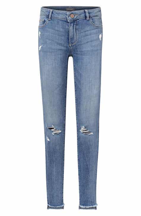 f557054f8ef5 DL1961 Distressed Skinny Jeans (Hartwell) (Big Girls)