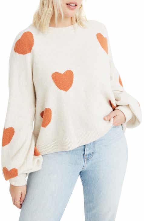 Madewell Heart Dot Balloon Sleeve Pullover Sweater d3f8055de