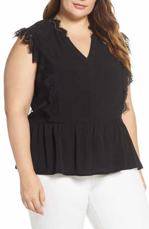 3292554d0c0252 Gibson x International Women s Day Hoang-Kim Eyelash Lace Detail Sleeveless  Top (Plus Size)