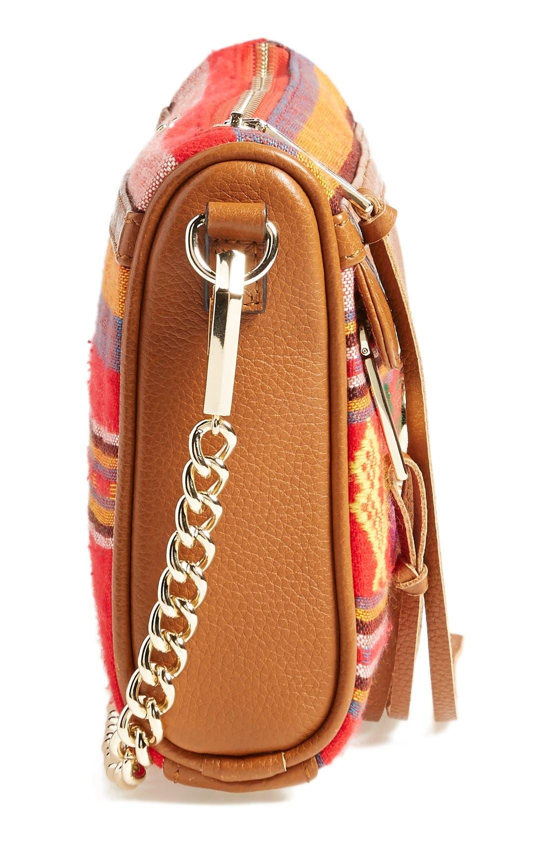 Piece & Co. and Rebecca Minkoff 'Mini MAC' Convertible Crossbody Bag,                             Alternate thumbnail 5, color,                             Orange Multi