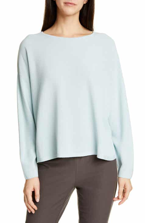 Eileen Fisher Boxy Tencel® Lyocell Blend Sweater by EILEEN FISHER