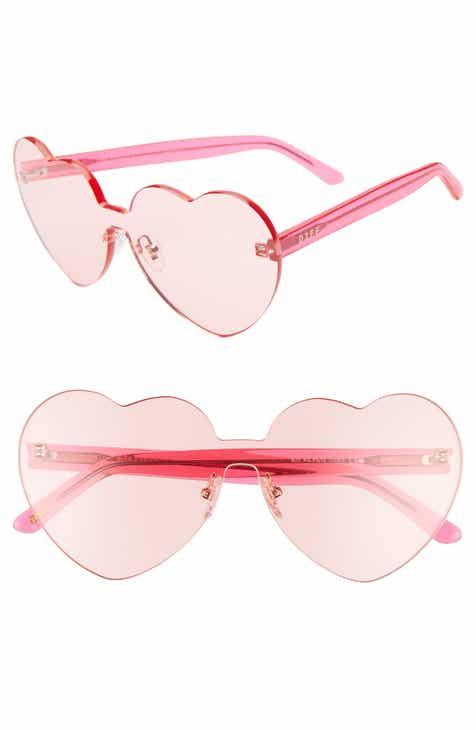 662b5e430bcf2 DIFF Rio 64mm Heart Shaped Sunglasses